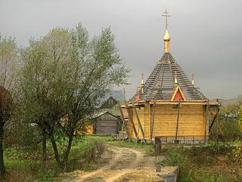 Строительство часовни в деревне Смолево