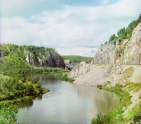 Прокудин-Горский, мост на Юрюзани